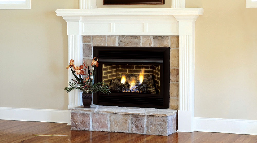 unvented gas fireplace